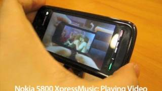 Nokia 5800 XpressMusic: Playing Video