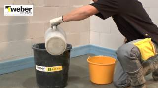 weber.floor vloeibare zandcement® (VZC)