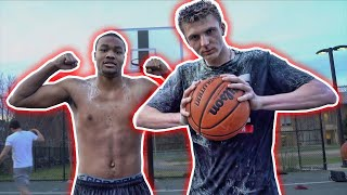 I DUNKED On Him! 1v1 Basketball with HUMILIATING CHALLENGE