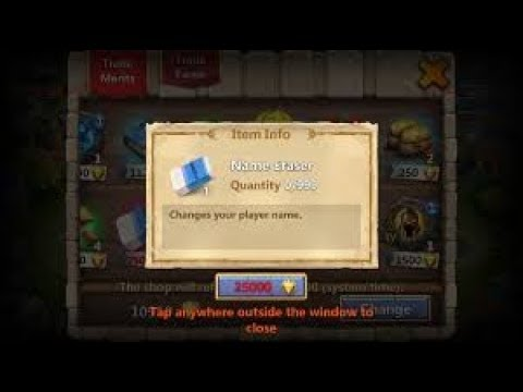 How To Change Name In Castle Clash Use Merits