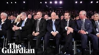 Prince Charles greets dignitaries at World Holocaust Forum in Jerusalem