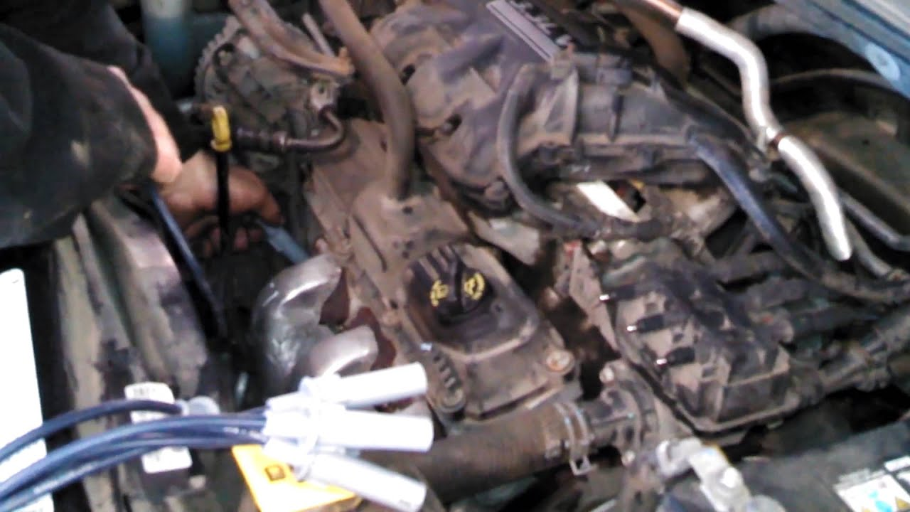 spark plug replacement 2009 chrysler town and country plug wires install remove replace how to [ 1280 x 720 Pixel ]
