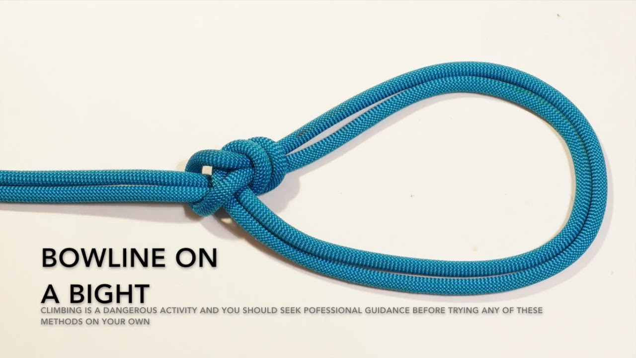 climbing knots how to tie a bowline on a bight (animated tutorialclimbing knots how to tie a bowline on a bight (animated tutorial)