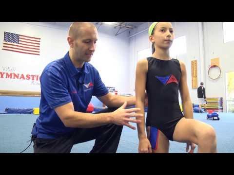 At Home Hip Flexor Stretch for Gymnasts