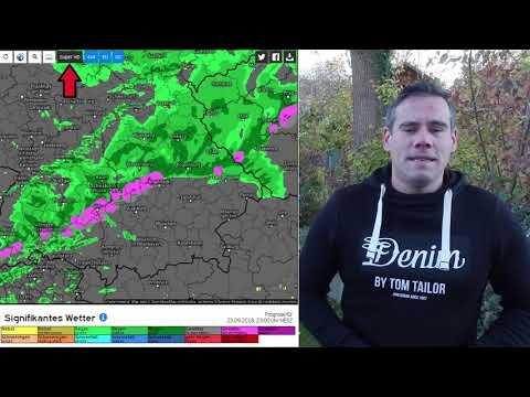 Wettervorhersage mit Modellkarten