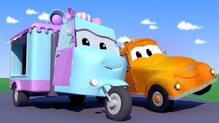Odtahové auto pro děti - Cukrářské auto Carre schytá ránu basebalovým míčkem Odtahové auto Tom