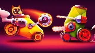 БИТВА КОТЯТ на САМОДЕЛЬНЫХ ТАНКАХ Игровой мультик для детей Crash Arena Turbo Stars