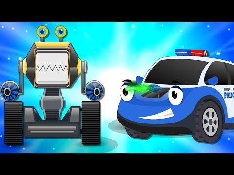 Bob the Police Car on a Mission to rescue Ba Cars from Crusher Machine  Kids Cartoon Rhymes