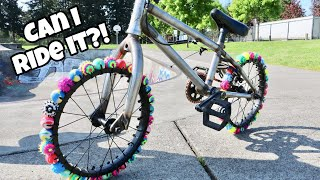 Bouncy Ball Bike Tires! Can I Ride IT?!