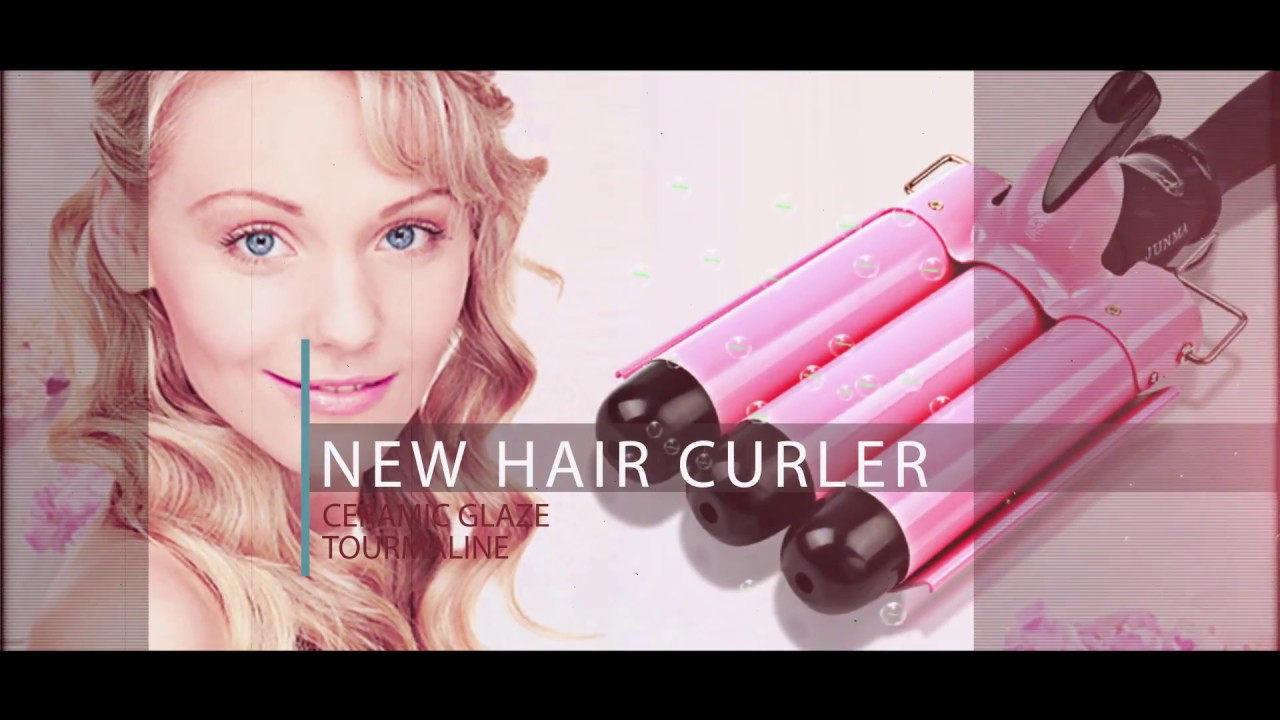 Ckeyin 3 Barrels Wave Curler Ceramic Curling Iron Wand Lcd