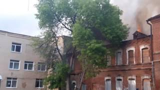 Пожар в центре Уфы