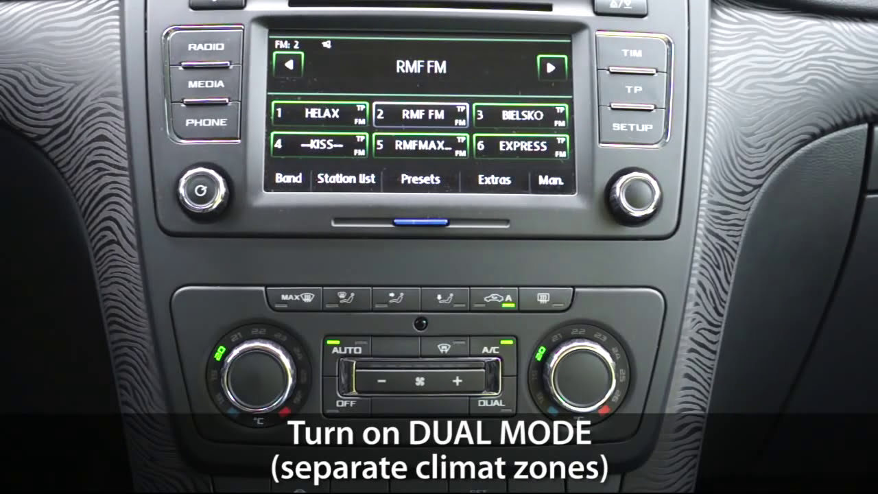 How To Enter Hidden Menu In Climatronic Vw Skoda (Golf Touran Yeti Superb  Octavia)  Mr-Fix 01:13 HD