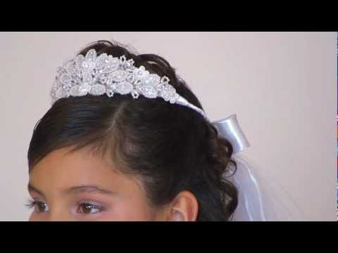 Crown with Veil Style FG_928- White Only