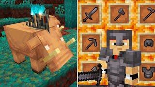 Фото Майнкрафт 1.16   новые блоки оружие броня механизмы мобы биомы