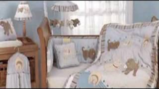 Scruffy Puppy Dog Boys Crib Bedding And Accessories
