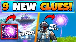 Fortnite CUBE ISLAND EVENT EXPLAINED + VISITOR RETURNING?! - 9 Clues & Theories in Battle Royale!