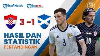 Euro 2020: Hasil & Statistik Pertandingan Kroasia 3-1 Skotlandia, Modric cs Lolos ke Babak 16 Besar