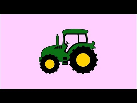 How to Draw and Color a Tractor with Itsy Bitsy Spider Old Mac Donald Rhymes for Kids and Music
