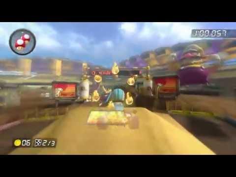 Mario Kart 8 Gameplay - Leaf Cup Time Trial - Wario Stadium - Mii