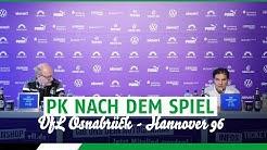 PK nach dem Spiel | VfL Osnabrück - Hannover 96
