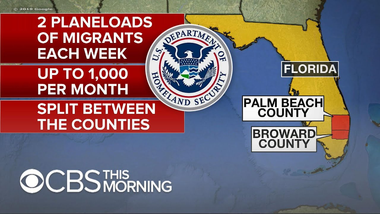 PLANS TO MOVE MIGRANTS FROM TEXAS TO FLORIDA