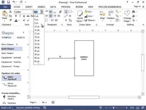 Chemical Engineering Block Flow Diagrams in Microsoft Visio - YouTube - process block diagram