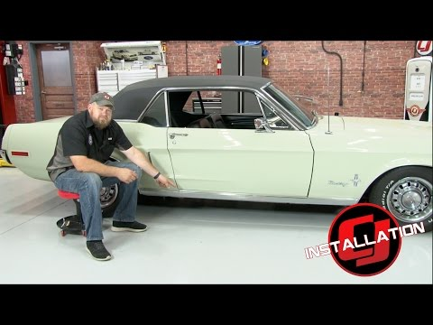 Mustang Rocker Panel Molding With Clips 1967-1968 Installation
