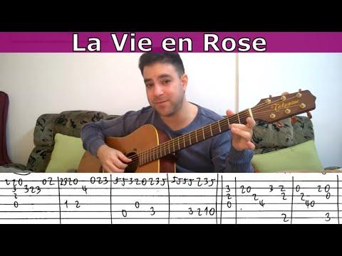 Fingerstyle Tutorial: La Vie en Rose - Guitar Lesson w/ TAB