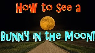 How To See A Bunny or Rabbit In The Moon
