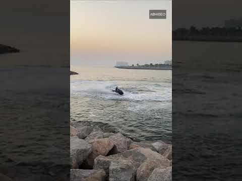 Dubai: Jet Ski Tour ⛷Dubai Jet Ski ⛷ Dubai Island 🏝 Dubai Jet Skiing #Shorts