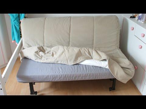 Как разложить диван икеа видео