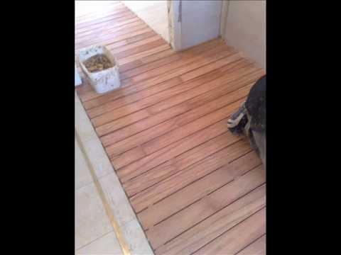 Montaz łazienki Drewno Egzotyczne Pokładówka