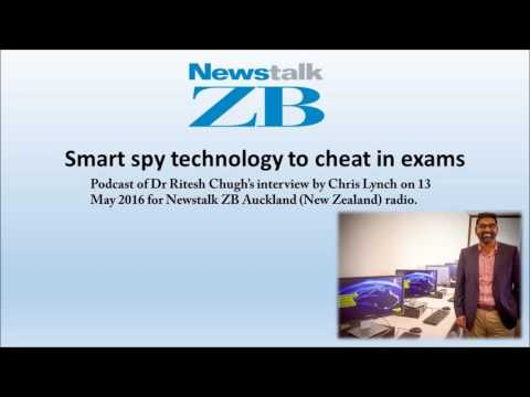 Smart spy technology to cheat in exams