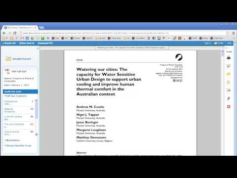 Finding The Information You Need: PDF And HTML Journal Articles