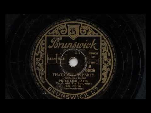 Peter Lind Hayes 'That Certain Party' 1948 78 rpm