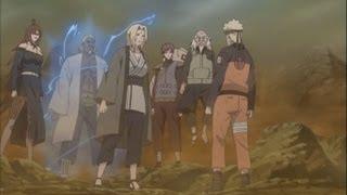 naruto shippuden episode 323 review madara vs 5 kage epic chojuro