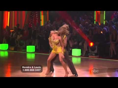 Kendra Wilkinson and Louis van Amstel Dancing with the Stars samba
