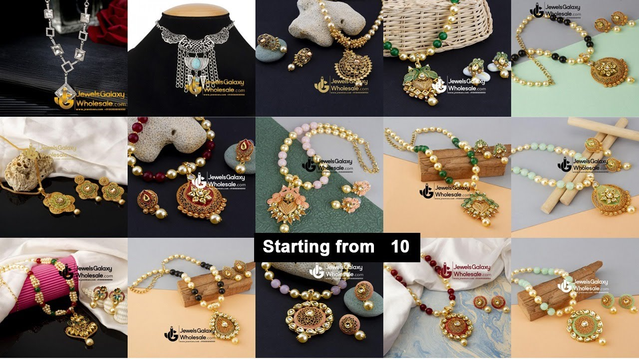Cheapest Jewellery Sets High Quality Sadar Bazaar Wholesale| Jewellery Necklaces | Arihant Bangles