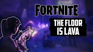 FORTNITE FLOOR IS LAVA CHALLENGE! I BUILT ACROSS HALF THE MAP