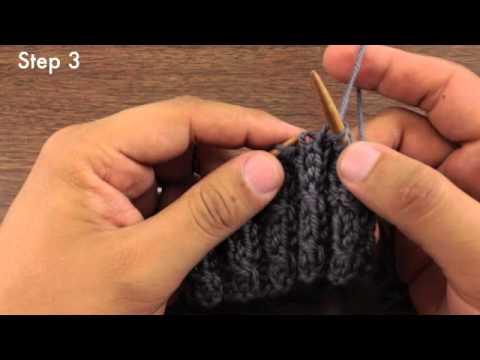 Knitting Stitches Right Twist : How to Knit the Left Twist Stitch (English Style) - YouTube
