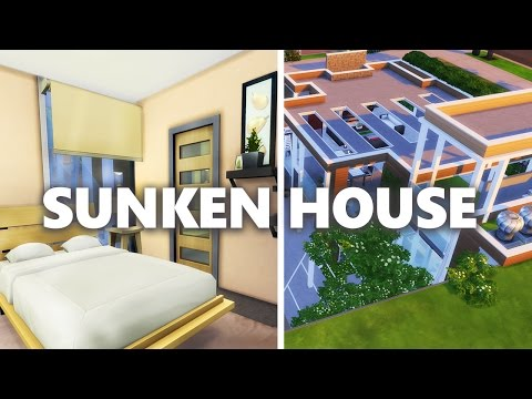 The Sims 4 House Build | SUNKEN HOUSE  w/ The Sim Supply  (part 2 furnish)