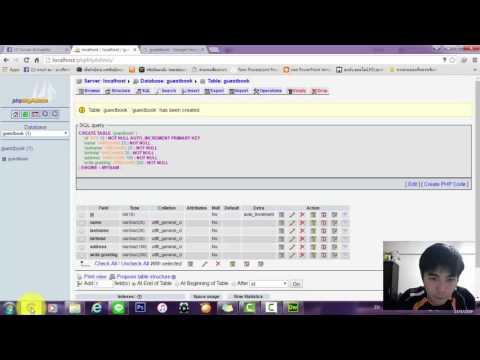 ทำGuestbookโดยใช้โปรแกรม Dreamweaver และ PHP mysql