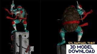 💥 Download STL Rafael Tortugas ninja / Ninja Turtles (TMNT) 3D Model Fanart version