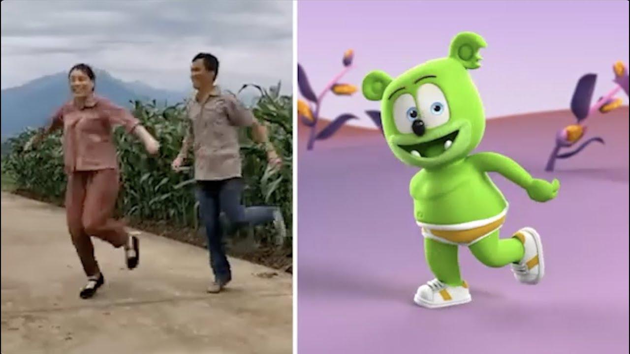 Gummy Bear Shuffle Dance Song - Gummibär Does the Rural-Style Shuffle Dance