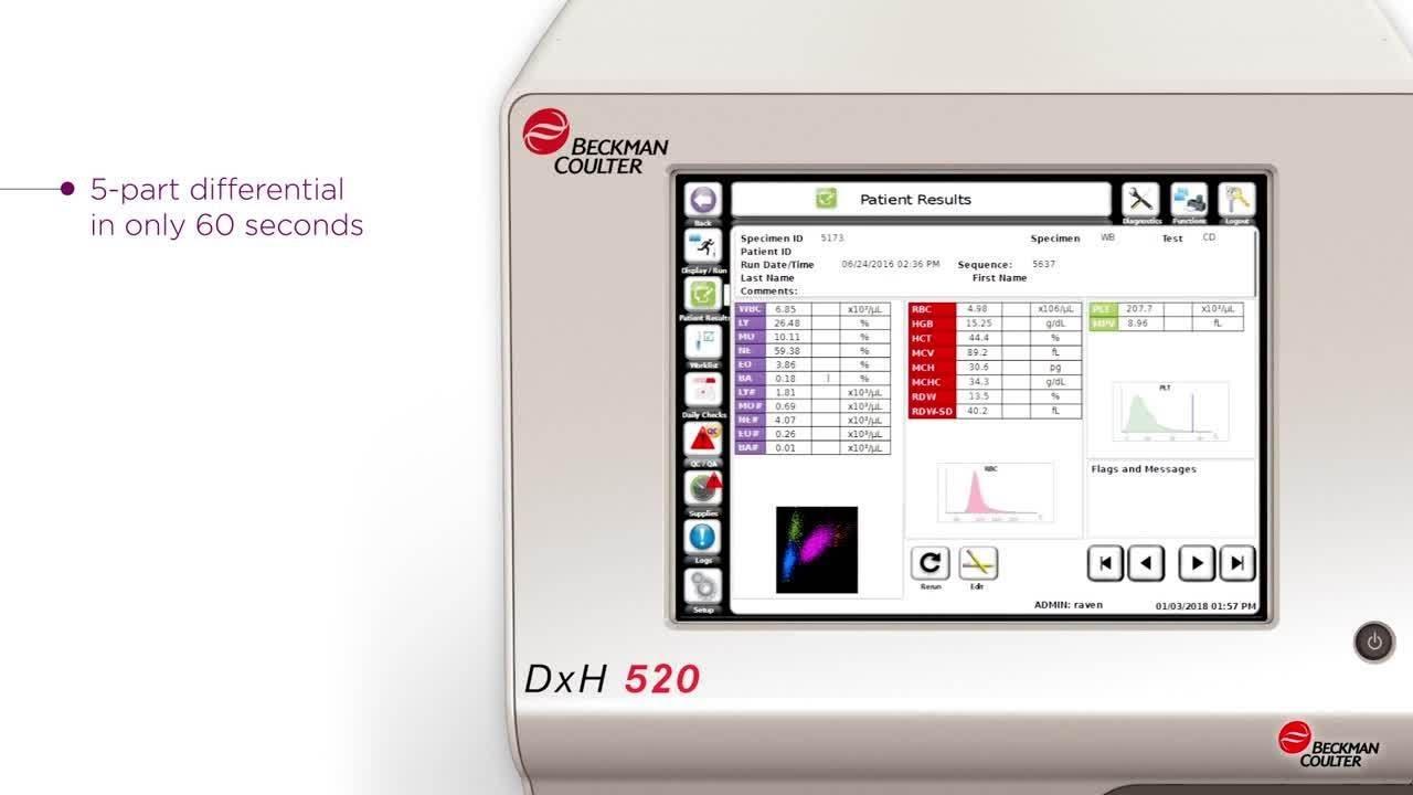 Hematology Analyzer DxH 520