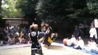 矢椅神社獅子舞