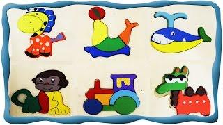 Веселая радуга - Пазлы картинки, Рисуем, Лепим, Знакомимся с животными. Развивающее видео.