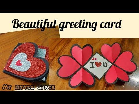 Wow..! Beautiful greeting card Diy | New Year Card 2020 | Love card |Handmade greeting card | Latest