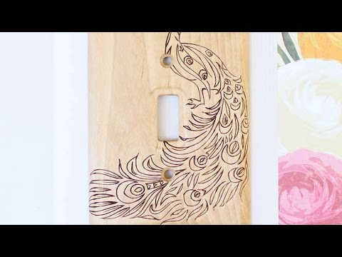 How To Create A Beautiful Wood Burned Switch Plate - DIY Home Tutorial - Guidecentral