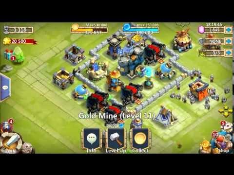 Castle Clash Upgrading Level 11 Gold Mine!